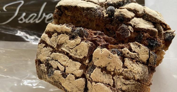 ラメゾンディザベルのレーズンのライ麦パン