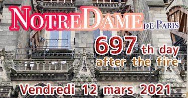 火災から697日目のノートルダム大聖堂